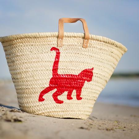 Ibiza Tasche Korbtasche Sandori Katze