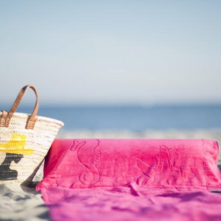 beachrelaxer Strandtuch Strandlaken Sandori Fuchsia Pink