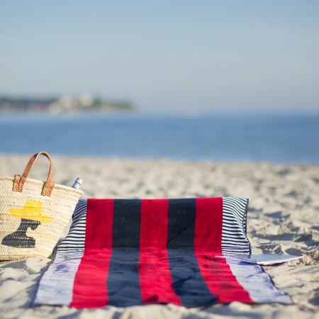 beachrelaxer Strandtuch Strandlaken Sandori gestreift rot