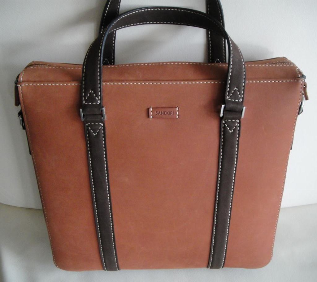Damen Business Tasche Leder braun / dunkelbraun handgearbeitet ...