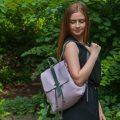 Sandori Rucksack genarbt Lavendel anthrazit 1
