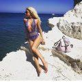 Sandori Rucksack genarbt Lavendel anthrazit 3
