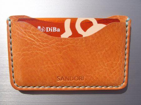 Sandori Kreditkartenetui Leder genarbt hellbraun Naht aqua 6 (1024x768)