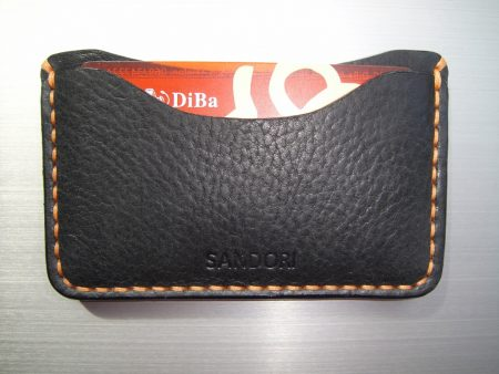 Sandori Kreditkartenetui Leder genarbt schwarz Naht hellbraun 5 (1024x768)