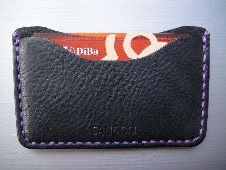 Sandori Kreditkartenetui Leder genarbt schwarz Naht violett 4 (1024x768)