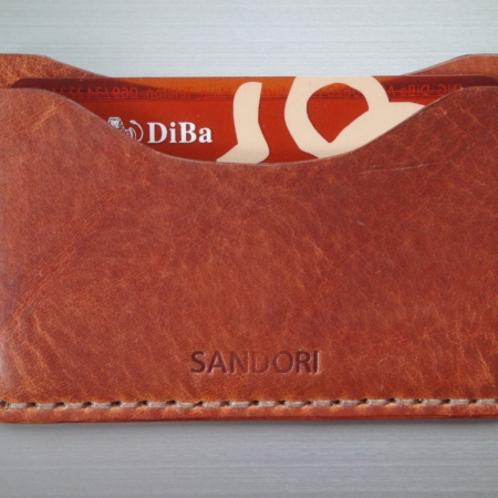 Sandori Kreditkartenetui Leder glatt mittelbraun Naht hell 4 (1024x768)