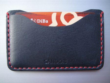 Sandori Kreditkartenetui Leder glatt schwarz Naht rot 3 (1024x768)