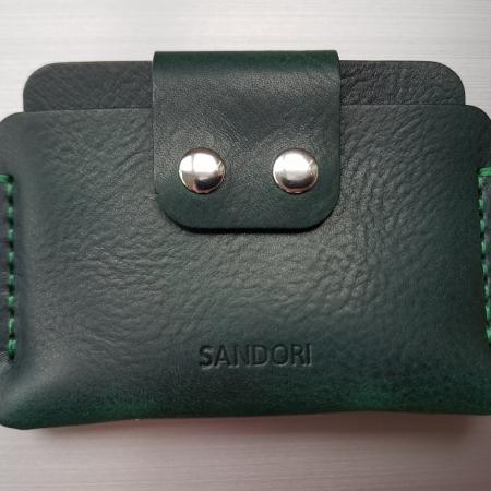 Sandori Portemonnaie mini dunkelgrün grün genarbt 1 (1024x768)