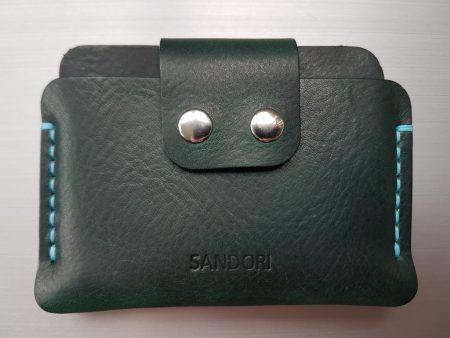 Sandori Portemonnaie mini dunkelgrün türkis genarbt 1 (1024x768)