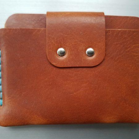 Sandori Portemonnaie mini mittelbraun hellblau glatt 7 (1024x768)
