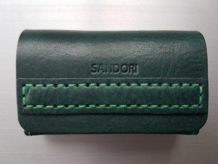 Sandori Visitenkartenetui dunkelgrün grün glatt 1 (1024x768)
