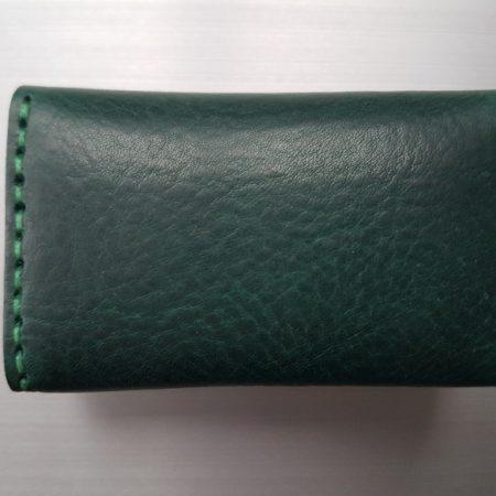 Sandori Visitenkartenetui dunkelgrün grün glatt 6 (1024x768)