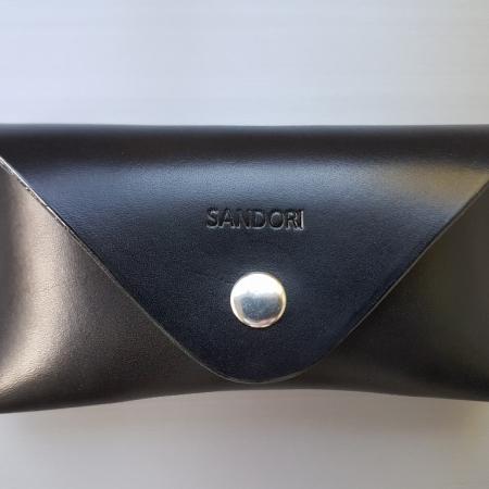 Sandori Brillenetui schwarz hellbraun glatt 1 (1024x768)