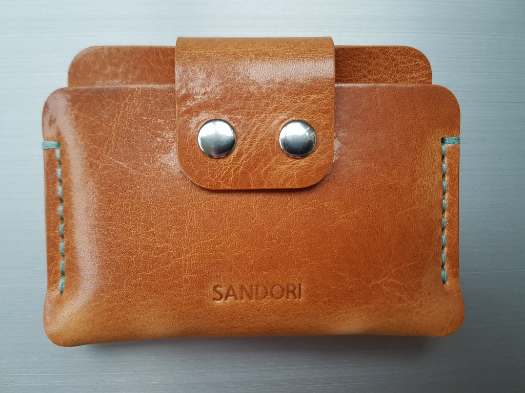6d59b94d535ba8 Mini Portemonnaie aus glattem italienischem Leder in hellbraun mit ...