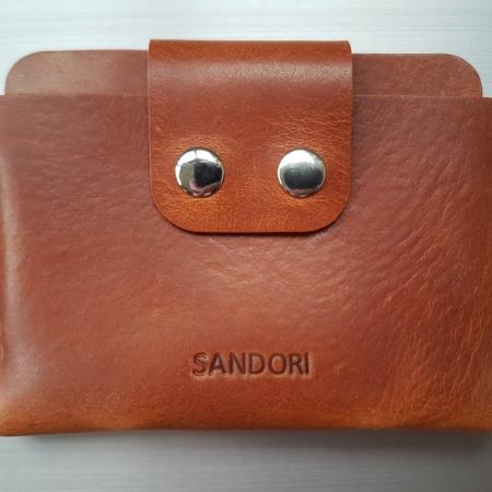 Sandori Portemonnaie mini mittelbraun hell glatt 1 (1024x768)