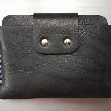 Sandori Portemonnaie mini schwarz violett genarbt 6 (1024x768)